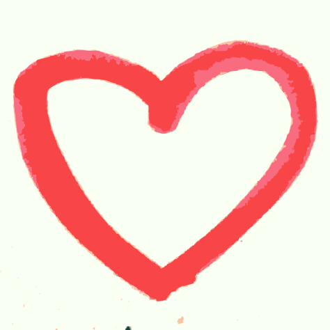 A hand drawn heart - Clipart