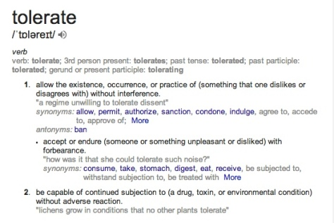 tolerate - Google